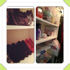 My closet before and after.