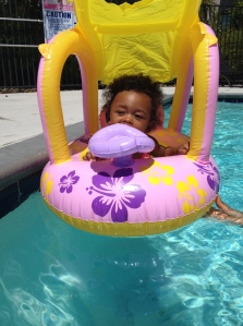First time in the pool